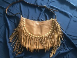 Valentino Fringed Bag brown leather
