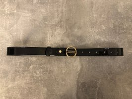 Valentino by Mario Valentino Faux Leather Belt black-gold-colored