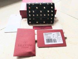 C. Valentino Porte-cartes noir cuir