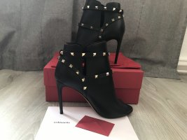 Valentino Rockstud Ankle Boots Open Toe