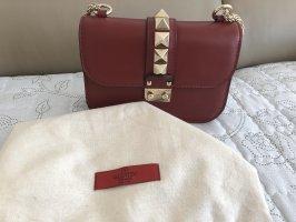 Valentino Sac porté épaule rouge foncé cuir