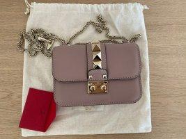 Valentino Rockstud Glam Lock Leather Crossbody Bag