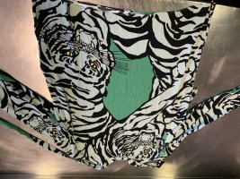 Valentino Seidenbluse Tiger grün