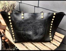 Valentino Shopper black leather