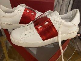 Valentino Garavani Sneakers met veters wit-rood