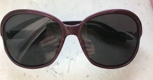 Valentino Angular Shaped Sunglasses grey lilac-black brown