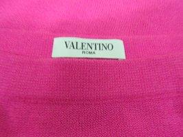 Valentino Falda de punto rosa neón