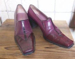 Vanity Leder Halbschuh, bordeauxrot, beere, fester Schuh, innen und außen echtes Leder