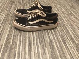 Vans Zapatillas con tacón negro-blanco