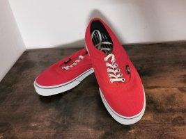 Vans Authentic Damen Skater Schuhe Halbschuhe rot Größe 39 US 8