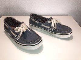 Vans Zapatos de marinero blanco-gris pizarra Algodón