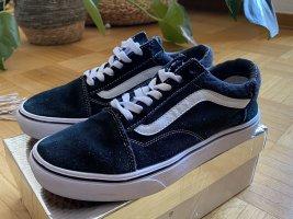 Vans Chaussure skate noir-blanc cuir