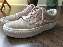 Vans Chaussure skate blanc-vieux rose