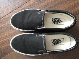 Vans Basket slip-on noir-blanc lin