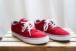 Vans Sneaker, Rot/Ethno, Größe 41