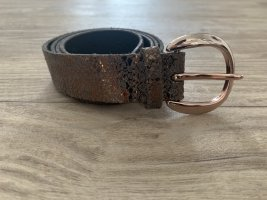 Vanzetti Leather Belt rose-gold-coloured-brown leather
