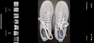 Nike Lace-Up Sneaker silver-colored-light grey