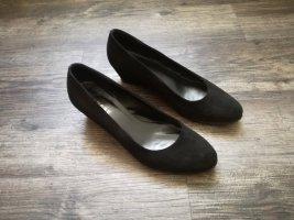*Varese* Ballerina mit Keilabsatz / Gr. 40 (UK 7) / schwarz - NP 69,99€