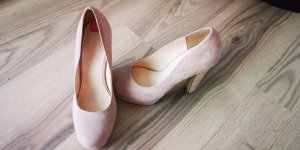 Velour High Heels
