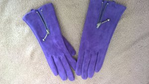 Gloves lilac-pink suede