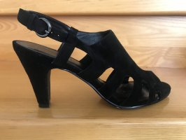 5th Avenue Strapped High-Heeled Sandals black