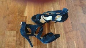 Veloursleder Sandaletten von CONLEYS - schwarz - Gr. 39