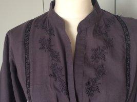 Velvet Robe tunique bleu foncé coton