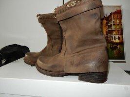 Venezia Ankle Boots bronze-colored leather