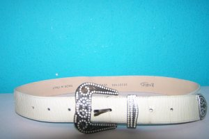 Vera Pelle Leather Belt cream