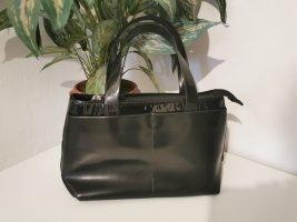 Vera Pelle Italian Damen Henkeltasche Handtasche Echtleder schwarz