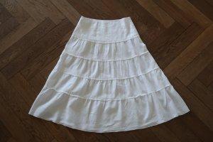 Vera Varelli Broomstick Skirt white linen
