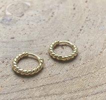 Silver Orecchino a cerchio oro