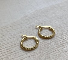 Silver Ear Hoops gold-colored