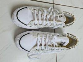 veredelte CONVERSE Sneaker weiß mit Strass Gr. 7 bzw 38