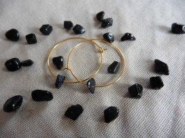 keine Marke Gouden oorbellen zwart-goud