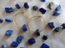 keine Marke Gouden oorbellen goud-blauw