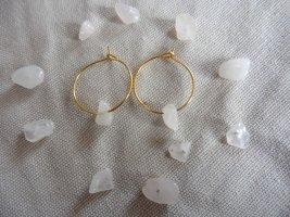 keine Marke Gouden oorbellen goud-lichtroze