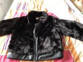 Orsay Futrzana kurtka czarny