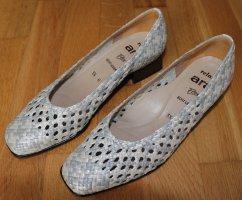 ara Buty wciągane srebrny-biały Skóra