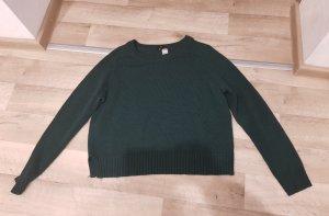 H&M Szydełkowany sweter leśna zieleń