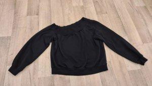 H&M Top asymétrique noir
