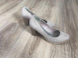 Marco Tozzi Zapatos de cuña rosa