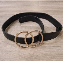 Asos Boucle de ceinture noir-doré
