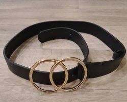 Asos Hebilla del cinturón negro-color oro