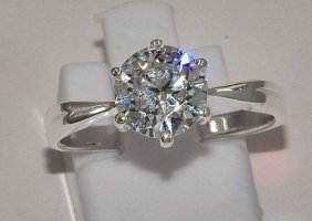 Verlobungsring Sterling Silber 925 Zirkonia NEU
