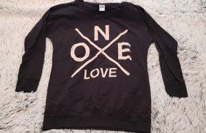 Vero Moda One Love Longpullover Pullover Sweatshirt schwarz beige creme Gr. M