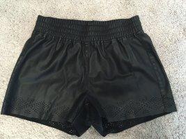 Vero Moda Pantalón corto de tela vaquera negro