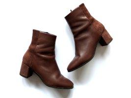 Vero Moda Stiefeletten Gr. 39 braun Wild leder Leder Spitz ankle boots