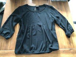 Vero Moda Top Bluse schwarz L 40 Perlen