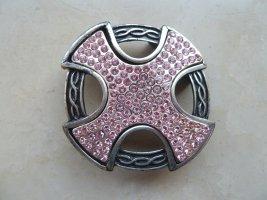 Belt Buckle pink-light grey metal